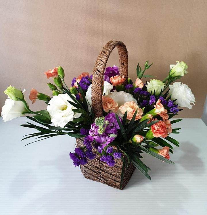 Mothers' Day  Fresh Flowers Basket  Workshop on May 3 image