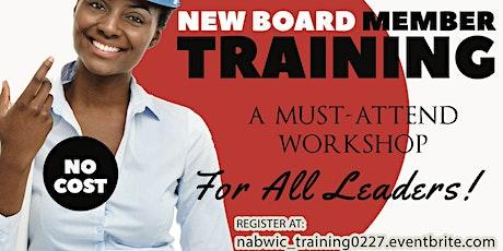 New Board Member & Leadership Training tickets