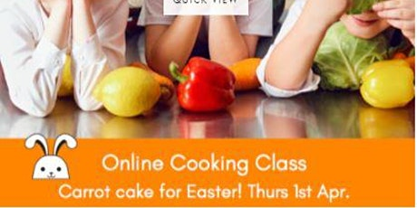 Online cooking class - healthy carrot cake muffins! tickets
