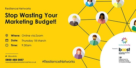 Stop Wasting Your Marketing Budget!  - FREE Business Masterclass tickets