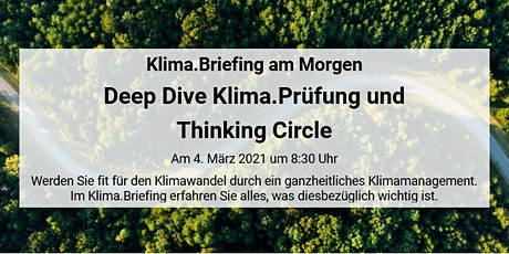 Klima.Briefing am Morgen – Deep Dive Klima.Prüfung & Thinking Circle Tickets