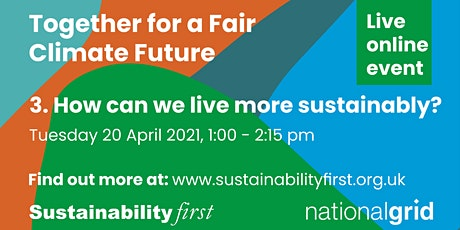How can we live more sustainably? tickets