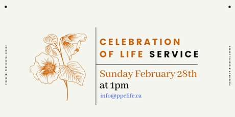 Celebration of Life Service tickets