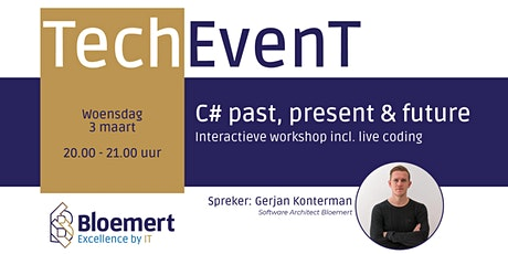 C# past, present & future  - Interactieve workshop incl. live coding tickets