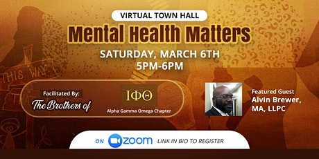 Mental Health Matters.......Black Men and coping w/Covid tickets