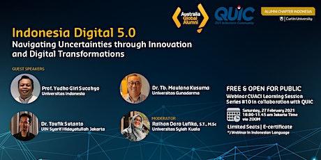 Webinar Indonesia Digital 5.0: Innovation and Digital Transformations tickets
