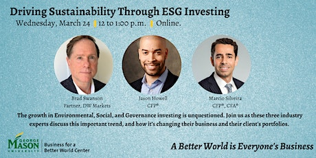 Driving Sustainability through ESG Investing tickets