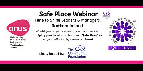 Onus Safe Place Webinar tickets