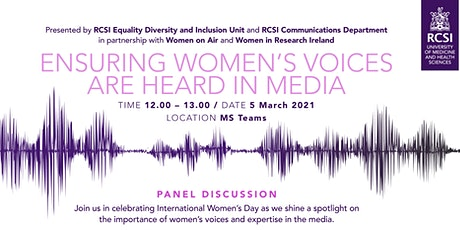 ENSURING WOMEN'S VOICES ARE HEARD IN MEDIA tickets