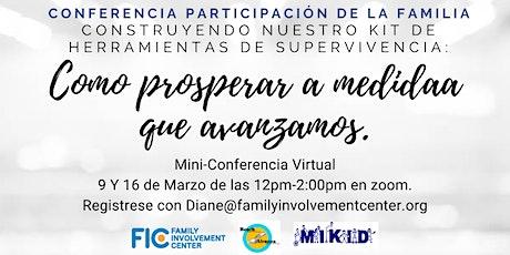 Conferencia Participacion de la Familia - Una mini-conferencia virtual entradas