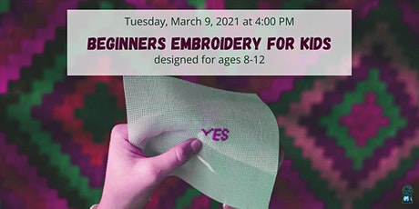 Beginners Embroidery for Kids ingressos