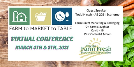 2021 Farm to Market to Table Conference by Webinar tickets