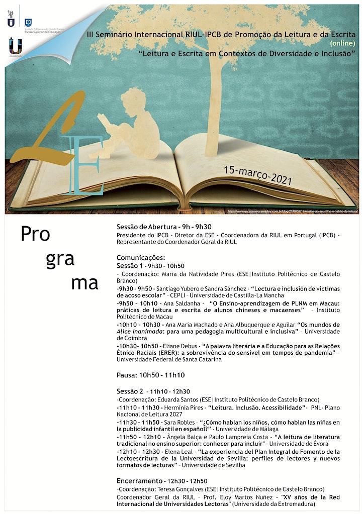 imagem III Seminário Internacional RIUL – IPCB de Promoção da Leitura e da Escrita