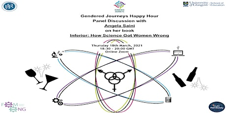 "Gendered Journeys Happy Hour: Angela Saini on her book: :""Inferior"" tickets"