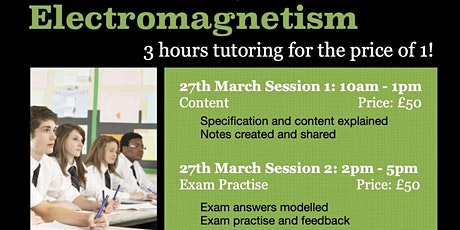 GCSE Electromagnetism 3hr Online Tutoring Session - Content tickets