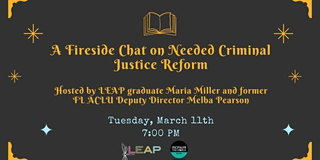 A Fireside Chat on Needed Criminal Justice Reform tickets