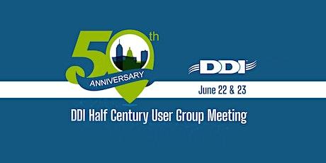 2021 DDI User Group Meeting Sponsorship - 50th Anniversary tickets