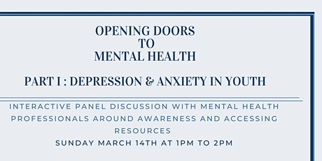 Opening Doors to Mental Health : Depression & Anxiety in Youth tickets