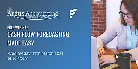 Cash flow forecasting made easy tickets