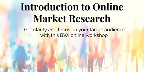 Introduction to Online Market Research tickets