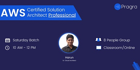AWS Certified Solutions Architect - Professional 2021 -Training & Placement tickets