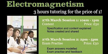 GCSE Electromagnetism 3hr Online Tutoring Session - Exam Qs tickets