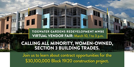 Tidewater Gardens Redevelopment MWBE Virtual Vendor Fair tickets