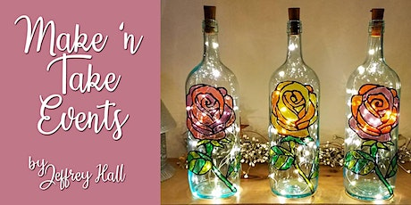 Make 'n Take - Stained Glass Wine Bottle - Rose (Includes Wine Flight) tickets