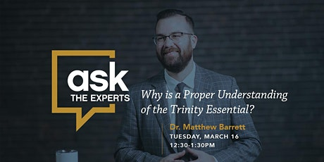 Ask The Experts with Matthew Barrett tickets