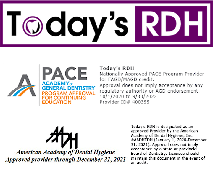 Today's RDH Virtual Dental Continuing Education (CE) Event - May 22, 2021 image