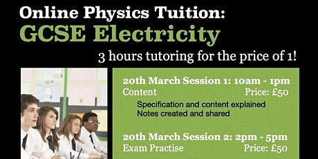 GCSE Electricity 3hr Online Tutoring Session - Content tickets