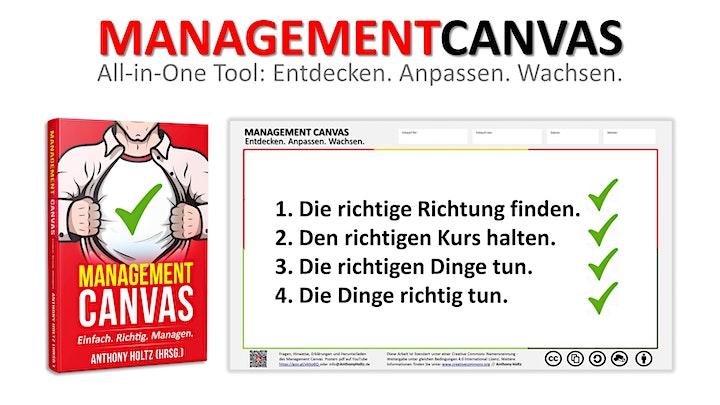 """MANAGEMENT CANVAS - Entdecken. Anpassen. Wachsen:  """"Kurs für ANWENDER"""": Bild"""