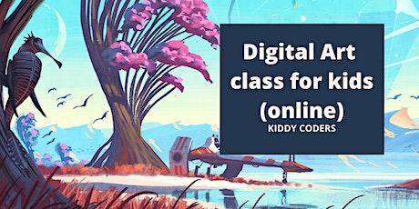 Digital Art class for kids (online) tickets