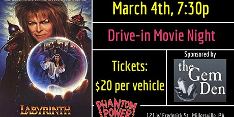 Drive in Movie: Labyrinth tickets