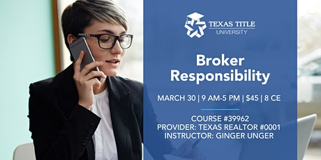 Broker Responsibility tickets