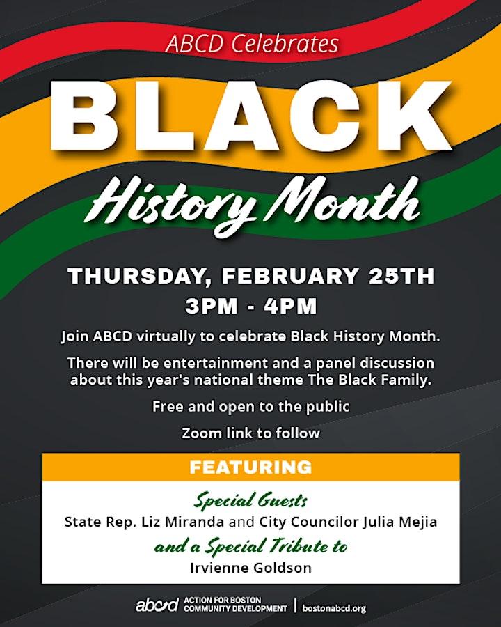 ABCD 2021 Black History Month Celebration image