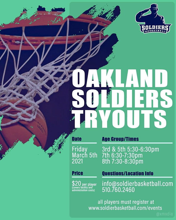Oakland Soldiers Tryouts image
