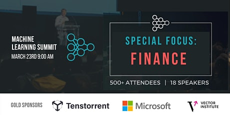 Machine Learning in Finance Summit tickets