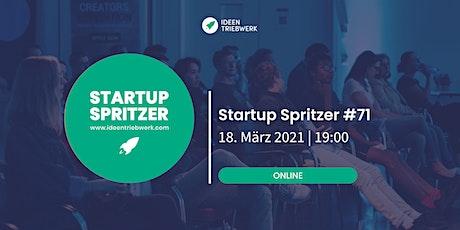 Startup Spritzer #71 - Online Tickets