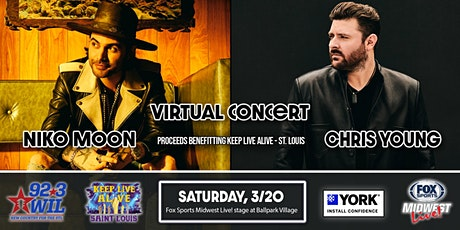 Niko Moon & Chris Young Concert Viewing tickets