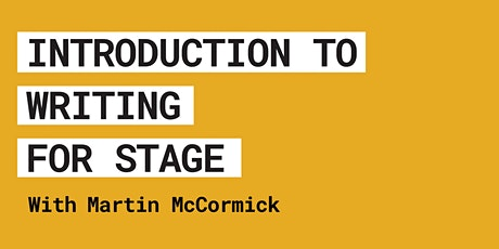 Introduction To Writing For Stage tickets