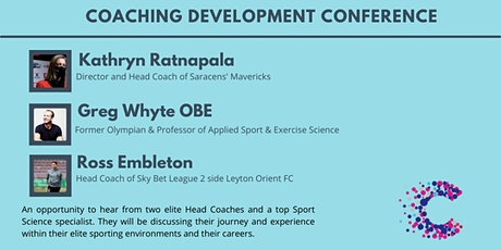 Coaching Development Conference - £3 Donation to Cancer Research UK tickets