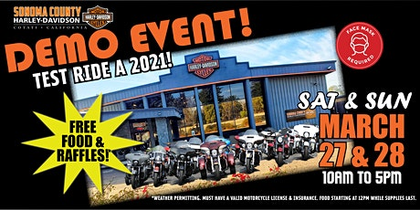 2021 Demo Event at Sonoma County Harley-Davidson! tickets