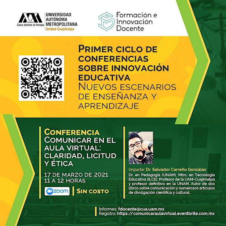 Imagen de Conferencia: Comunicar en el aula virtual: claridad, licitud y ética