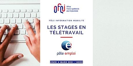 France - Québec : les stages en télétravail billets