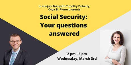 Webinar: Social Security: Your Questions Answered tickets