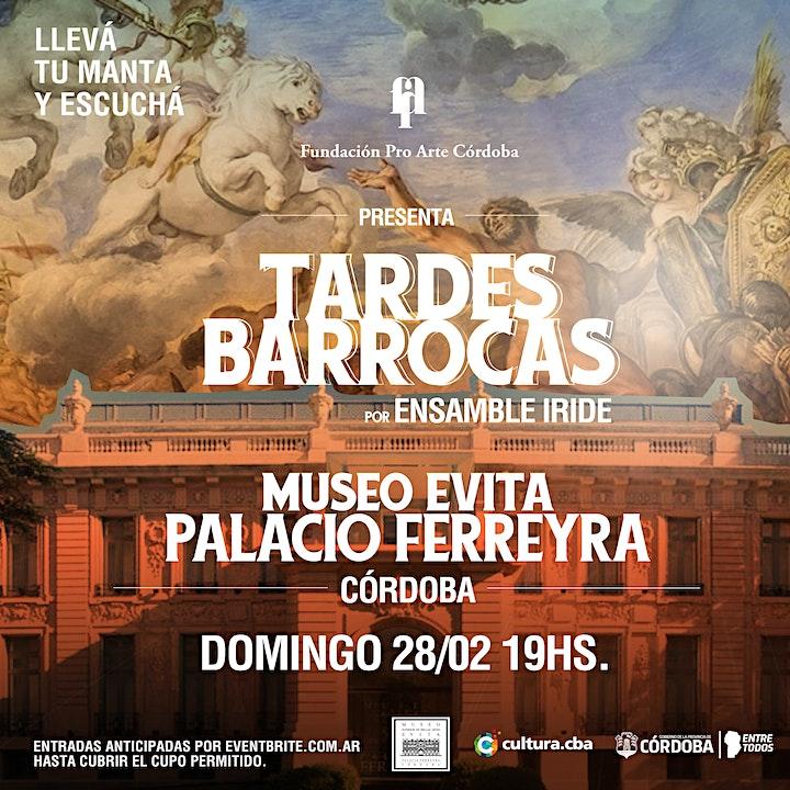 "Imagen de ""TARDES BARROCAS"" -  Palacio Ferreyra | Ensamble Íride"