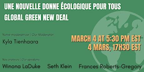 Global Green New Deal | Une Nouvelle Donne écologique pour tous tickets