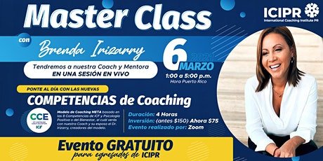 Master Class : Las nuevas competencias de ICF y el modelo de aplicabilidad entradas