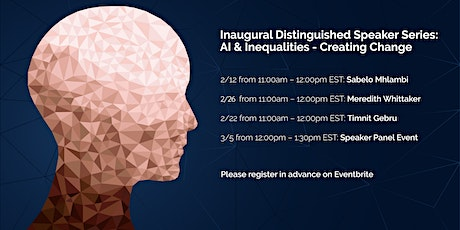 AI and Inequalities - Creating Change (4 Distinguished Speaker Events) tickets